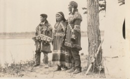 3 Natives Looking Out Over A Sizeable River R. P. P. C. - Native Americans