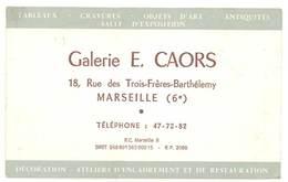 Carte Commerciale Galerie E. Caors, Marseille 6e - Publicités