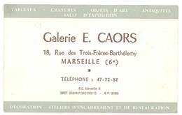 Carte Commerciale Galerie E. Caors, Marseille 6e - Werbung