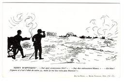HUMORISTIQUE - Illustrateur VAN BATH 1914 - EFFET D' OPTIQUE? - Ed. M. Frinzine, Aix-les-Bains - Humour