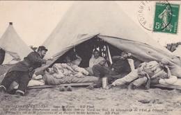 CAMP DE CHALONS ,,, SOUS LA  TENTE ,,,, 12 Km  X 14 Km   SURFACE  10000 HECTARES ,,PERIMETRE  48 KM ,,,,TBE - War 1914-18