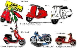 1 Pin's Aux Choix_SCOOTER_VESPA_ Belle Qualité Ou Mobilette MBK - Motorbikes