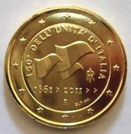 ITALIE 2011 - 2 EUROS COMMEMORATIVE - UNIFICATION ITALIE -  PLAQUE OR - Italie