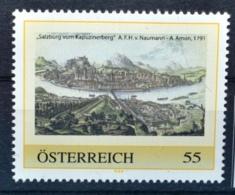 SPECIAL EDITION AUSTRIAN POST - G341 Salzburg Vom Kapuzinerberg, Anton Amon 1791, Hist. Ansicht, AT 200? ** - Autriche