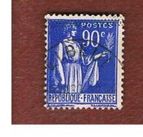 FRANCIA (FRANCE) -   SG 511b  -    1938  PEACE   90 C  Blue   - USED - Usati