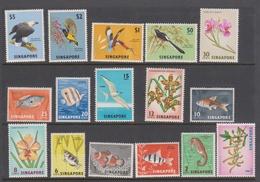 Singapore 66-81 1962-66 Definitives, Mint Never Hinged,10c Light Hinged - Singapore (1959-...)