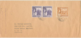 Malta Cover Sent To USA 28-7-1961 (there Is A Tear In The Right Side And Hinged Marks On The Backside Of The Cover) - Malta