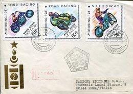 40023 Mongolia, Fdc Circuled  1981  Speedway  Road Racing  Tour Racing, Motorsport - Motos
