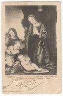 Palermo Chiesa Dell Olivella La Vergine In Adorazione S. Giovanni E Un Angelo #Cartolina #Madonna #Santino - Virgen Mary & Madonnas