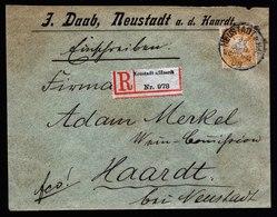 A5706) AD Bayern Orts-R-Brief Neustadt / Haardt 29.04.08 EF Mi.62 - Bayern
