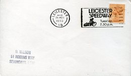 40027 England, Special Postmark 1980 Leicester Speedway Motor - Moto