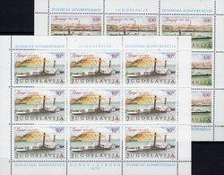 Schiffe 1979 Jugoslawien 1816/7 Kleinbogen ** 12€ Donau-Dampfer Kooperation Ss CEPT Bloc Ships Sheetlets YUGOSLAVIA - Maritime
