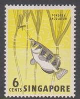 Singapore 70 1962-66 Definitives,6c Archer Fish, Mint Hinged - Singapore (1959-...)
