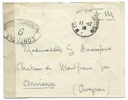 ENVELOPPE TRESOR ET POSTES 1918 / CONTROLE POSTAL MILITAIRE / FRANCHISE MILITAIRE - Postmark Collection (Covers)