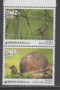SOUTH KOREA, 2017, MNH, FAUNA IN THE DMZ , PART II, SQUIRRELS, BIRDS, 2v - Birds