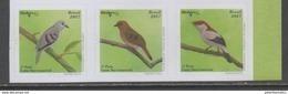 BRAZIL, 2017, MNH, BIRDS, BIRDPEX,3v, SELF-ADHESIVE - Birds