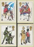 INGHILTERRA - BRITISH ARMY - SERIE COMPLETA  5 CARTOLINE  - EDIT. HOUSE OF QUESTA - NUOVE - Francobolli (rappresentazioni)
