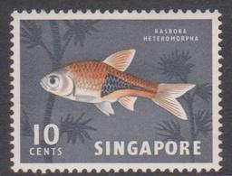 Singapore 72 1962-66 Definitives,10c Ikan Bada Fish, Mint Hinged - Singapore (1959-...)
