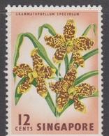 Singapore 73 1962-66 Definitives,12c Grammatophillum Orchid, Mint Never Hinged - Singapore (1959-...)