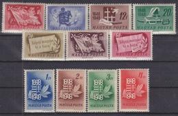 Hungary 1948. Centenary Nice Complete Set MNH (**) Michel: 1000-1010 - Nuevos