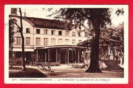 F-67-Niederbronn Les Bains-04P118  La Terrasse Du Casino Et Le Kiosque, Cpa BE - Niederbronn Les Bains