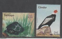 PERU , 2016, MNH, FAUNA, BIRDS, CONDORS, TORTOISES, TURTLES,  2v - Birds