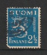 MiNr. 180 Finnland / 1932, Jan./Juni. Freimarken: Wappenlöwe Auf Glattem Grund. Bdr.; Gez. K 14. - Finland