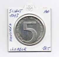 Israele - 1973 - 5 Lirot - Hanukka - Argento - Vedi Foto - (MW1869) - Israel
