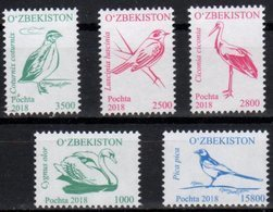 UZBEKISTAN, 2018, MNH, BIRDS,5v, PT. III - Swans