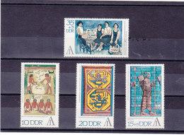 RDA 1972 PEINTURES Yvert 1471-1474 NEUF** MNH - [6] République Démocratique