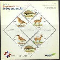 COSTA RICA, 2018, MNH, TOWARDS THE BICENTENARY OF INDEPENDENCE, BIRDS, MANATEES, MARINE LIFE, DEER, SHEETLET - Oiseaux