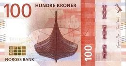 NORWAY 100 KRONER 2016 P-54a UNC [NO054a] - Norway