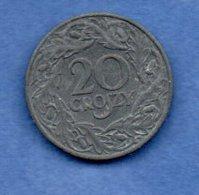 Pologne -  20 Groszy 1923    -  Km # 12     état  SUP -- - Pologne