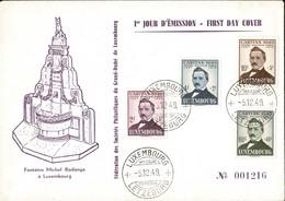 1949 FDC Série Caritas Michel: 464-467, 2Scans, Valeur Catalogue: 50€ - FDC