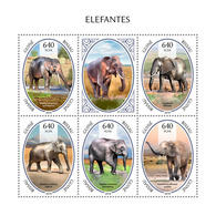 Guinea Bissau. 2018 Elephants. (803a) - Elephants