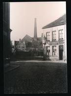 GENT FOTO 12.5 X 9 CM - OUDE CLICHE GLASPLAAT - DUBBEL SLOT - CAFE IN DEN KLOEF BIJ GUSTAAF NEIJT - Gent