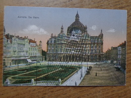 FELDPOST / Antwerpen-Anvers, La Gare --> écrit 1917 - Antwerpen