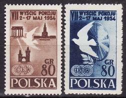POLAND 1954  Mi 845-846  MNH** VF - 1944-.... République