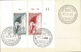 1939/40 Carte Postale 2 Timbres Michel: 332/342 Cachets Luxembourg 17.3.1940, 2Scans - Stamped Stationery