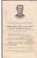 AVIS DE DECES DE  L' ABBE  JEAN  LOUIS  JOSEPH  REGY  ,  CURE DE ST  GENEST DE  CONTEST , DECEDE 1948 - Décès