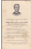 AVIS DE DECES DE  L' ABBE  JEAN  LOUIS  JOSEPH  REGY  ,  CURE DE ST  GENEST DE  CONTEST , DECEDE 1948 - Overlijden