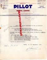 75- PARIS- RARE FACTURE PILLOT -CHAUSSURES -4 RUE DE CASTIGLIONE- MARQUES KISUPA-RATIONAL-L' AGENT DE PARIS-1945 - Textile & Vestimentaire
