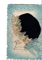 """Très Belle CPA  Avec Bonnet Bleu-marine En Soie. Ste-Catherine """" Sur Votre Chevelure, Il Fera Bonne Figure"""". Voir Scan. - St. Catherine"""
