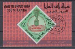 UPPER YAFA 1966 FOOTBALL WORLD CUP CANCELLED S/SHEET - 1966 – Inglaterra