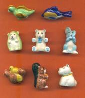 Serie Complète De 8 Feves Portes Crayons Petits Animaux - Animals