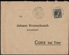 1926 Lettre Commerciale Timbre 1Fr Ardoise-noir, Michel: 175, Cachet Luxembourg 12.8.1928, 2Scans - Luxembourg