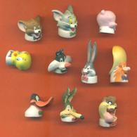 Serie Complète De 10 Feves Mat Portes Crayons Looneys Tunes - Cartoons