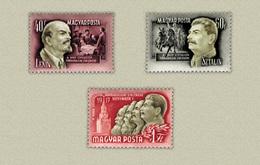 Hungary 1952. Stalin, Marx And Lenin Nice Set MNH (**) Michel: 1276-1278 - Ungarn