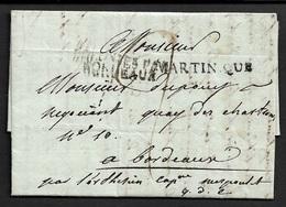 1817 LAC . MARTINIQUE St. PIERRE A BORDEAUX - COLONIES PAR BORDEAUX - Q.D.C QUE DIEU CONDUISE - Marcophilie (Lettres)