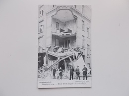 CPA Original:  BERCHEM 1914 - Hoek Driekoningen- En Twiststraat , Oorlogs- Bombardement, - Antwerpen